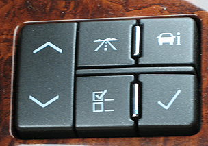 Picture of auto control panel buttons with icons